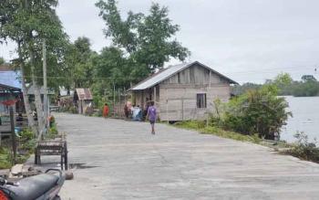 Pulau Nibung merupakan salah satu desa yang akan menyelenggarakan Pilkades serentak 2017. (BORNEONEWS/NORHASANA)