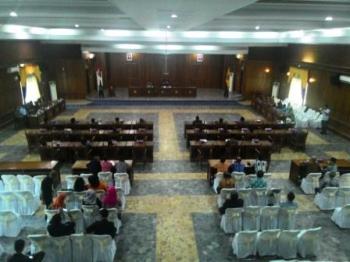 Suasana sidang paripurna DPRD Kobar beberapa waktu lalu. BORNEONEWS/RADEN ARIYO WICAKSONO