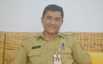 Kepala Dinas Pekarjaan Umum Kabupaten Katingan, Alyono. BORNEONEWS/ABDUL GOFUR