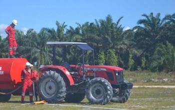 Pekerja perusahaan perkebunan yang ada di Kabupaten Sukamara. BORNEONEWS/NORHASANAH