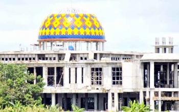 Masjid Agung Pulang Pisau yang menjadi salah satu bakal lokasi kegiatan MTQ tingkat Provinsi Kalteng 2018 mendatang. BORNEONEWS/JAMES DONNY