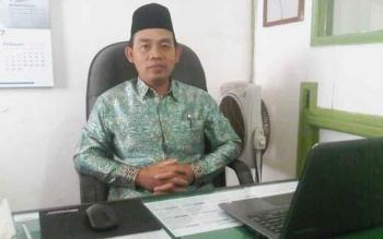 Kasi Penyelengaraan Haji dan Umrah Kemenag Barito Selatan Arbaja. (BORNEONEWS/URIUTU)