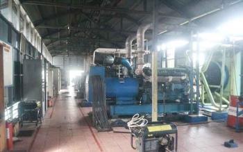 Mesin PLN Rayon Sukamara yang berlokasi di Jalan Setia Yakin Kelurahan Mendawai Sukamara. BORNOENEWS/NORHASANAH