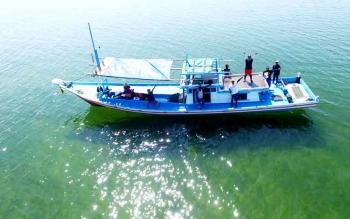 Survei Keberadaan ikan duyung di Senggora. BORNEONEWS/KOKO SULISTYO
