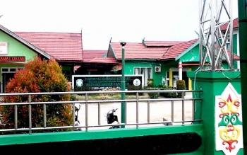 Bangunan RSUD Mas Amsyar Kasongan yang berada di tepi Jalan Trans Kalimantan ini telah dinyatakan lulus akreditasi khusus.BORNEONEWS/ABDUL GOFUR