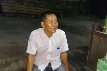 Yadi, pedagang di Pasar Temenggoeng Djaja Kartie, Tamiang Layang