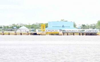 Pelabuhan Sei Tunggul di Kecamatan Kahayan Kuala, Kabupaten Pulang Pisau. BORNEONEWS/JAMES DONNY