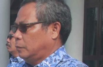 Kepala Badan Perencanaan dan Penelitian Pengembangan Daerah Kabupaten Gumas, Salampak. BORNEONEWS/EPRA SENTOSA