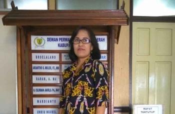 Anggota DPRD Kabupaten Barito Timur Adolina Sendol. (BORNEO/AMAR ISWANI)