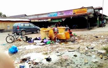 Salah satu tempat pembuangan sementara (TPS) sampah di dalam Kota Pulang Pisau. BORNEONEWS/JAMES DONNY