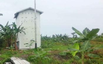 Salah satu gedung bangunan sarang walet di Desa Bangun Harja, Kecamatan Seruyan Hilir Timur. BORNEONEWS/PARNEN