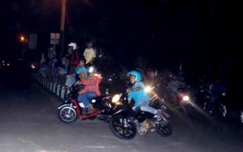 Aksi balapan liar yang kerap terjadi di Sampit. BORNEONEWS/HAMIM