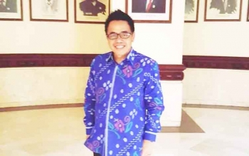 Sekretaris Komisi B DPRD Kota Palangka Raya Alfian Batnakanti. BORNEONEWS/TESTI PRISCILLA