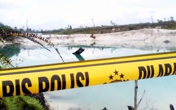 Danau bekas tambang pasir lokasi tewasnya Stevan Daniel. BORNEONEWS/SUPRI ADI