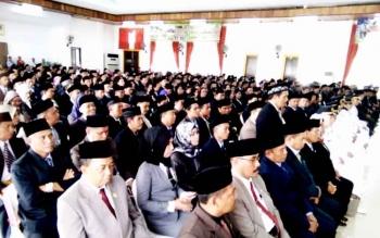 Para pejabat Pemkab Lamandau yang dilantik hari ini (18/1/2017). BORNEONEWS/HENDY NURFALAH
