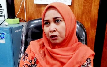 Anggota Komisi C DPRD Kota Palangka Raya,Mukarramah. BORNEONEWS/TESTI PRISCILLA