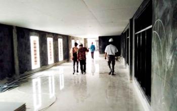 Ruang Stadion Pulang Pisau yang pembangunannya sedang dalam tahap penyelesaian. \\r\\nBORNEONEWS/JAMES DONNY