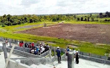 Stadion Pulang Pisau yang sedang dalam tahap penyelesaian. BORNEONEWS/JAMES DONNY