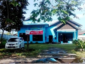 Di depan kantor KNPI Kota Palangka Raya dipasangi spanduk penyediaan wifi. BORNEONEWS/ROZIQIN