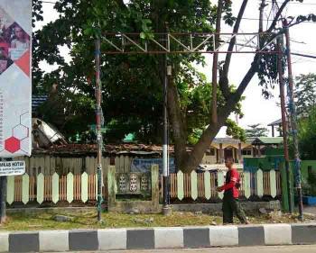 Lokasi tempat pemasangan spanduk penolakan Habib Rizieq, di pertigaan A Yani-HM Arsyad Sampit. Saat ini spanduk itu telah dilepas warga. BORNEONEWS/R NAFARIN