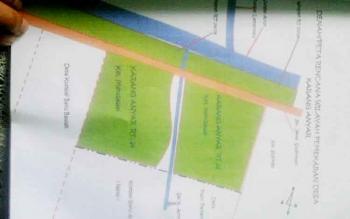 PETA - Peta tata batas yang dibuat secara swadaya oleh warga Dusun Karanganyar.(BORNEONEWS/FAHRUDDIN FITRIYA)