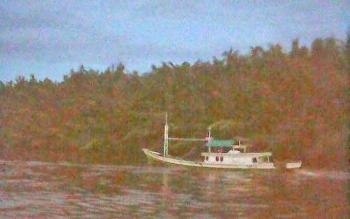 Inilah kapal milik Juhriansyah yang hilang pekan lalu. Hingga kini, kapal beserta Juhriansyah tidak diketahui keberadaannya. Foto Istimewa sumber Facebook.