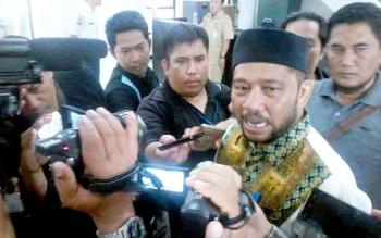 Ketua Pansus DPRD Katingan dugaan perbuatan tercela Bupati Katingan, Fahmi Fauzi. BORNEONEWS/ABDUL GOFUR