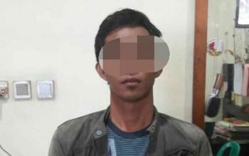 Pelaku pencurian hewan ternak babi, Supriyadi alias Usup sudah diamankan di Polsek Pahandut, Sabtu (28/1/2017).