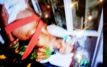Almrhum Yahya Engkel Tueng, saat mendapatkan perawatan di salahsatu Rumah Sakit di Mekah.