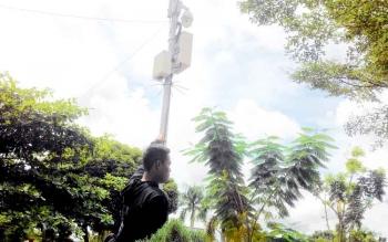CCTV - Di lokasi Taman Yos Sudarso, Palangka Raya sudah dipasangi CCTV.
