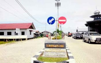 Kawasan wisata Flamboyan Bawah yang masih dalam tahap pembebasan kawasan.