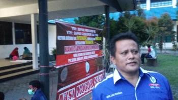 Ketua Koordinator Wilayah Serikat Buruh Sejahtera Indonesia (SBSI) Kalimantan Tengah, Hatir Sata Tarigan.