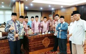 Rapat pembahasan antara ormas islam dan Gubernur Kalteng terkait wacana Kalteng menjadi provinsi Destinasi Halal dan Gerakan sholat lima waktu berjamaah.