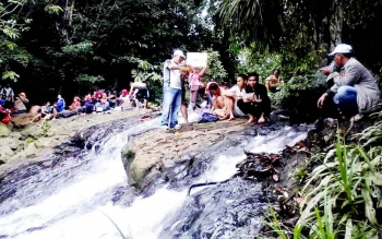 Air Terjun Jantur Jalitung di Desa Lemo I, Kecamatan Teweh Tengah, Kabupaten Barito Utara, akan dikembangkan Disbudparpora sebagai objek wisata andalan.