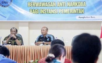 PERINGATAN - Kepala BKPP Kabupaten Kobar Tengku Ali Syahbana memeringatakan agar ASN tidak terlibat kasus penyalahgunaan narkoba.