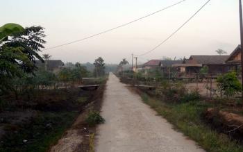 Kondisi jalan desa di wilayah Kecamatan Sebangau Kuala sebagian sudah bagus.