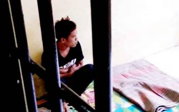 Tampak G, 23, yanbg kini resmi menjadi tersangka pelaku kekerasan seksual terhadap anak di bawah umur.
