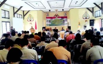 Suasana Musrenbang Tingkat Kecamatan di Aula Kecamatan Jekan Raya, Selasa (7/2/2017).