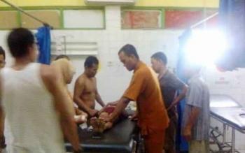Penanganan pasien gawat darurat di RSUD Sultan Imanuddin, Pangkalan Bun.
