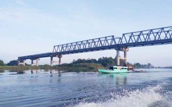 Jembatan Jelai yang merupakan Kabupaten Sukamara dengan Kabupaten Ketapang, Kalbar.