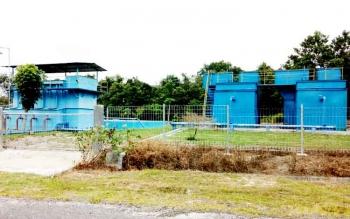 Mesin PDAM Arta Sukma Sukamara saat mengolah bahan baku menjadi air bersih.