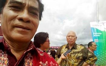 Wakil Bupati Barito Utara Ompie Herby saat menghadiri peringatan Hari Pers Nasional 2017 di Lapangan Tantui, Kota Ambon, Maluku, Kamis (9/2/2017). (IST)