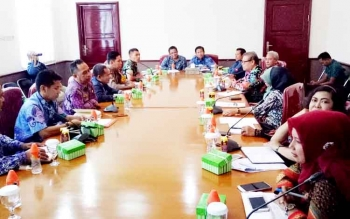 DPRD Kalteng dan Pemkab Kobar serta instasni terkait untuk melakukan monitoring dalam pelaksanaan pilkada 15 Februari mendatang, di ruang rapat Bupati Kobar, Kamis (9/2/2017).