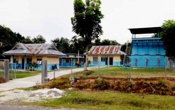 Kantor pengolahan bahan baku air sungai PDAM Tirta Sukma Sukamara.