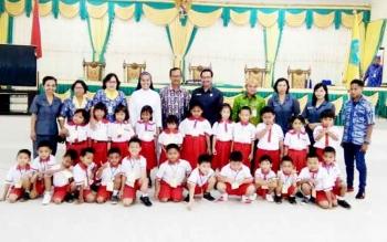Puluhan peserta didik dari PAUD Maria Beata Helena, Nanga Bulik, saat berkunjung ke DPRD Lamandau, Kamis (9/2/2017).
