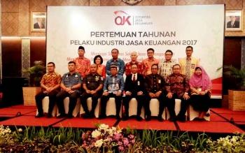 Pertemuan Tahunan OJK Kalteng dihadiri para pemangku kepentingan mulai dari Plt Sekda Kalteng, Syahrin Daulay hingga Wakil Wali Kota Palangka Raya, Mofit Saptono Subagio.