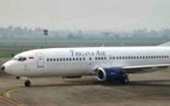Pesawat Trigana Air di Bandara Iskandar Pangkalan Bun. Pesawat Trigana Air rute Surabaya ke Pangkalan Bun, Jumat (10/2/2017) pagi dikabarkan delay. Menurut scedule, pesawat Booing 737-400 itu terbang dari Bandara Juanda Surabaya pukul 07.30 WIB.