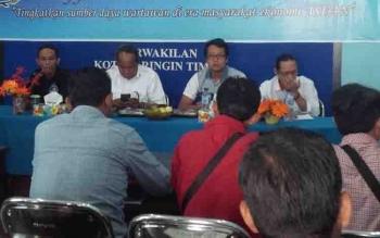Kabag Protokol dan Komunikasi Publik Setda Kotim, Multazam, saat bertatap muka dengan insan pers yang tergabung dalam PWI Kabupaten Kotim.
