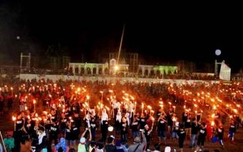 Ratusan penari menunjukkan aksinya saat pembukaan MTQ di Kotim, beberapa waktu lalu.