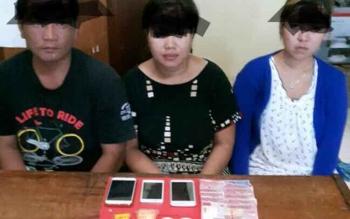 Para tersangka penyalahgunaan narkoba yang diringkus aparat Kepolisian Resor Gunung Mas.